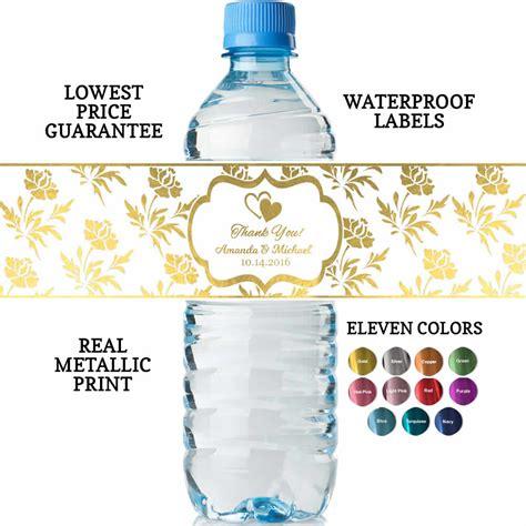 personalized custom water bottle labels