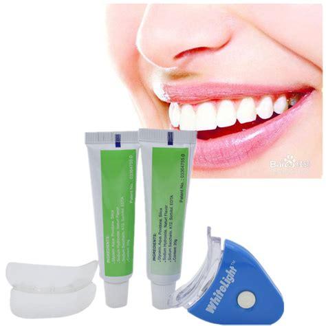 Lixiao Whitening Set 1 1 set new white led light teeth whitening tooth gel whitener health care toothpaste kit