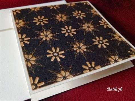 Kartu Ucapan Handmade Batik76 Motif 1 jual kartu ucapan handmade batik76 motif truntum hitam gold size s kartu ucapan batik kartu