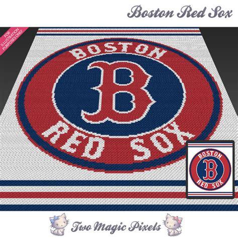 Boston Sox Baby Blanket by Boston Sox C2c Graph Crochet Pattern Twomagicpixels