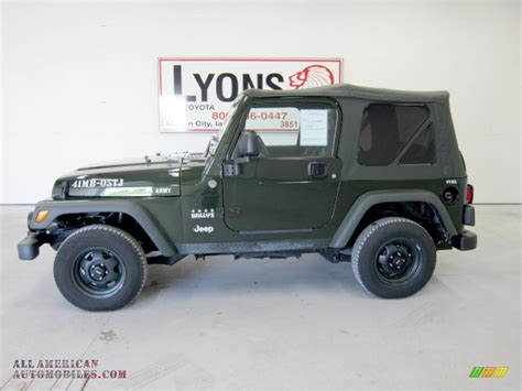 Jeep Willys Edition 2005 Jeep Wrangler Willys Edition 4x4 In Moss Green