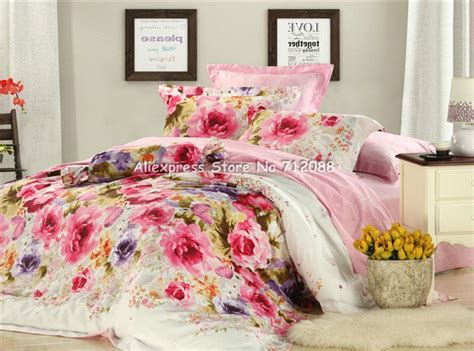 purple flower comforter set wholesale red purple flower floral pattern pink bedspread