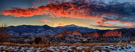 Garden Of The Gods Sunset Pikes Peak Mountain In Colorado Thousand Wonders
