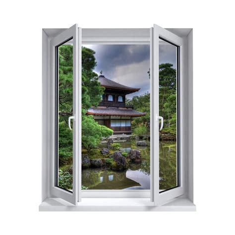 Superbe Modele De Jardin Zen #7: Stickers-trompe-l-oeil-fenetre-jardin-zen.jpg