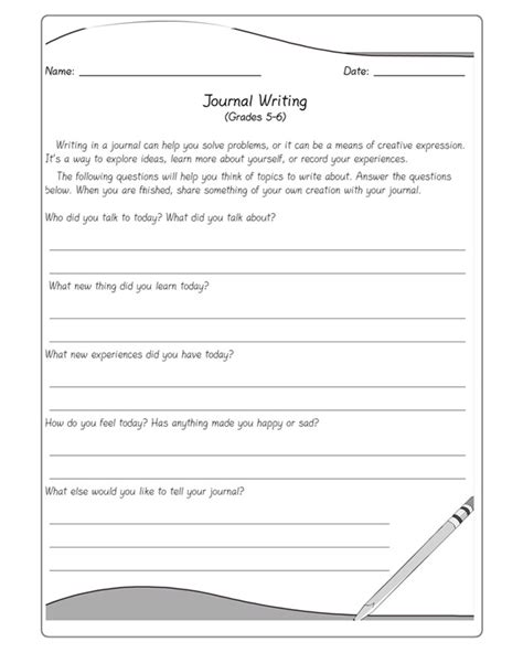 printable writing worksheets 6th grade 18 best images of 5th grade writing prompts worksheets