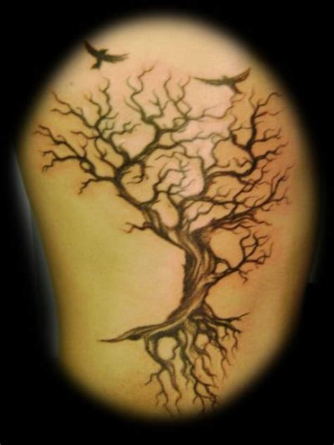 crow tree tattoo tree and crows tattoos pinterest