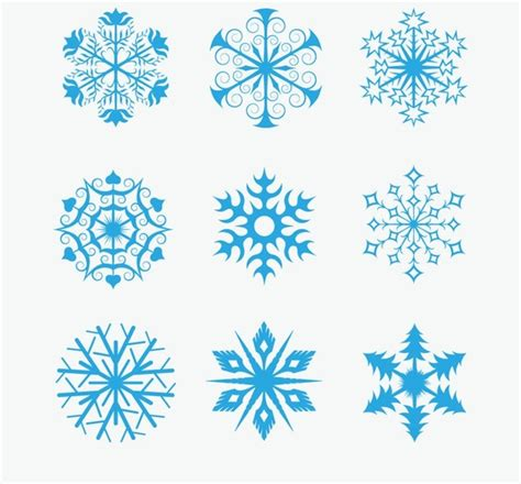 snowflake pattern illustrator snowflakes icon collection vector free vector in