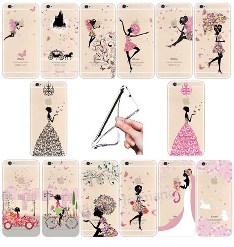 Casing Iphone 5 5s Se Silicon Flower Bling Soft Cover Ultra Thin Fashion Pattern Clear Soft For Iphone