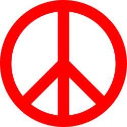 red peace sign clip art at clker com vector clip art