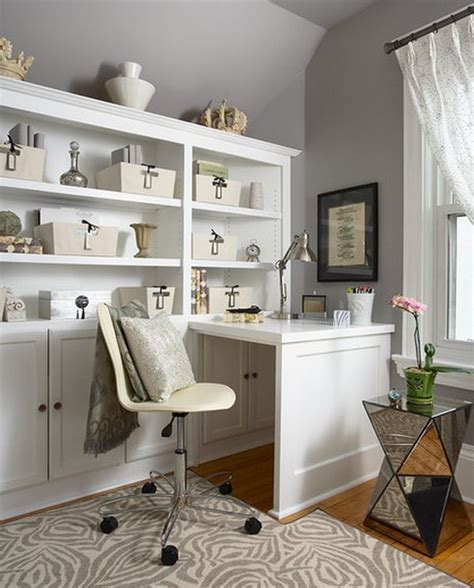 Small Office Space Design Ideas Organized Home Office Space With Plenty Of Storage Options Around Decoist