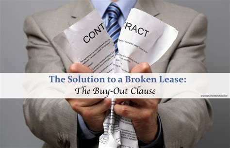 buying a leasehold house problems the solution to a broken lease the buy out clause the reluctant landlord
