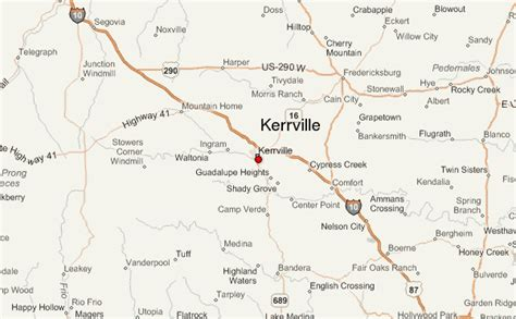 map of kerrville kerrville location guide