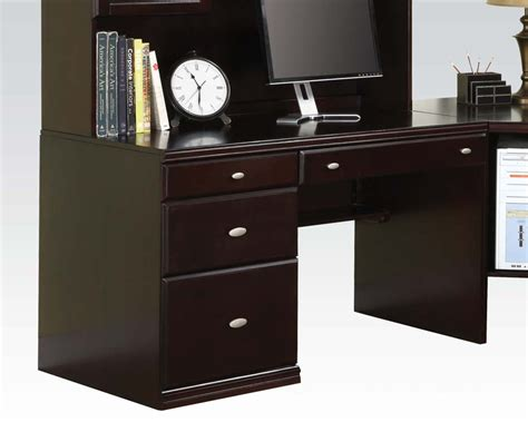 Espresso Office Desk Office Desk In Espresso Finish By Acme Ac92031