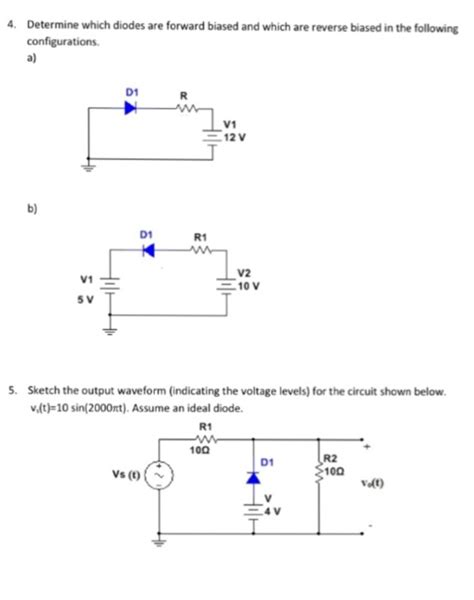 diode vt 1 in the following circuit the diode has an inter chegg