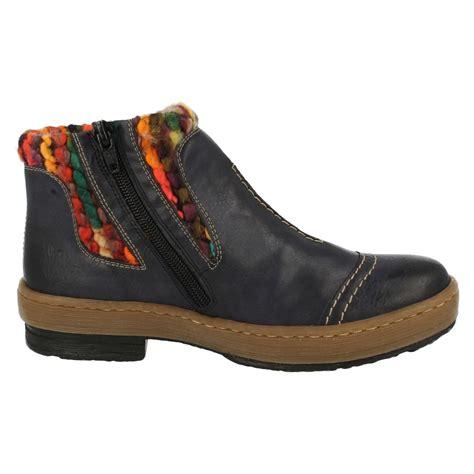 rieker z6784 casual ankle boots ebay