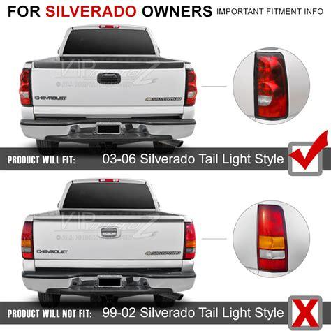 2005 chevy silverado tail light assembly 2003 2006 chevy silverado 1500 2500 3500 c shape black led
