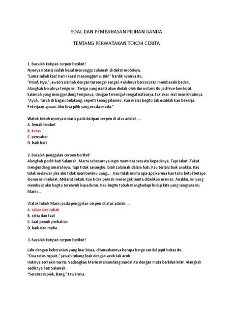 16+ Contoh Soal Watak Tokoh Dalam Cerpen - Kumpulan Contoh