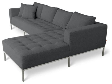 modern sofa sectional gus modern carter sectional sofa modern sectional