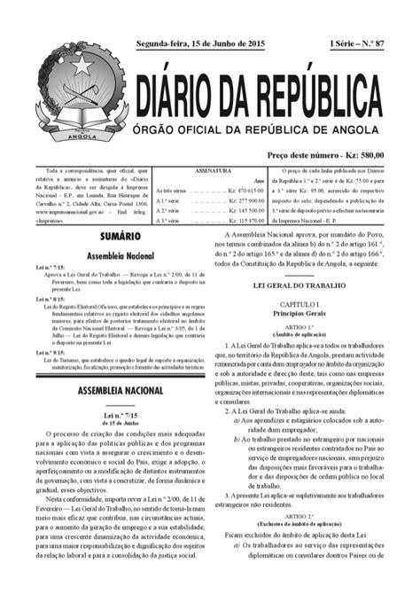Nova Lei Geral do Trabalho Angola