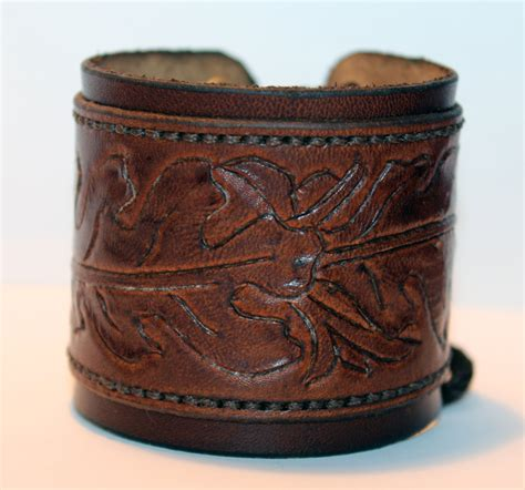 Handmade Cuffs - leather cuff bracelet brown handmade cuff great bracelet