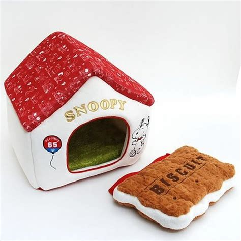 snoopy dog bed snoopy dog bed house garden red roof with cookies cushion pet house japan new ebay