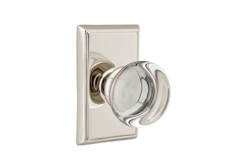 emtek providence crystal cabinet knob door hardware locks handles entrysets emtek products