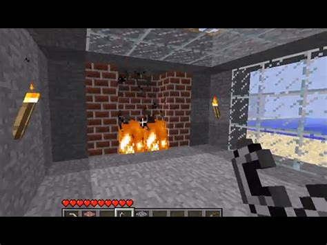 how to build a brick fireplace with a chimney in minecraft