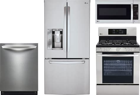 lg kitchen appliance package deals lg 4 piece kitchen package with lrg3081st gas range