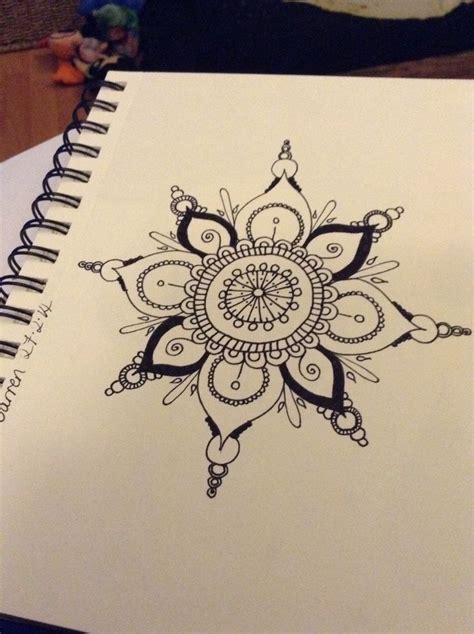 quickie mandala type doohickey ink lotus mandala