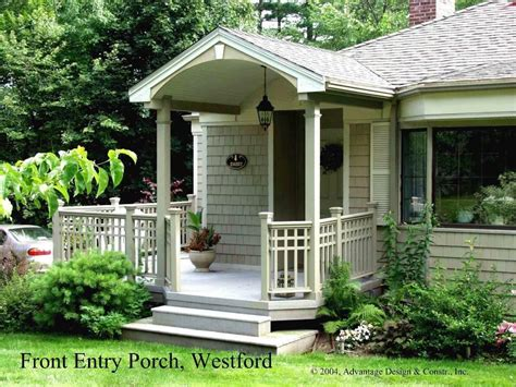 House Plans With Portico by Front Porches Covered Entry In Westford Ma Front