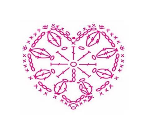 Grille Coeur Tricot by Coeurs Et Leurs Grilles Gratuites Crochet