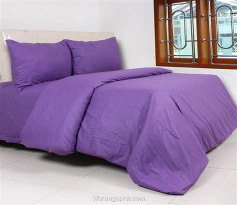 Katun Collection 1 sprei polos polos ungu warungsprei