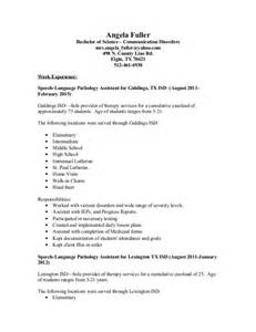 School Speech Therapist Sle Resume by Angela Fuller Slp Resume Doc 3
