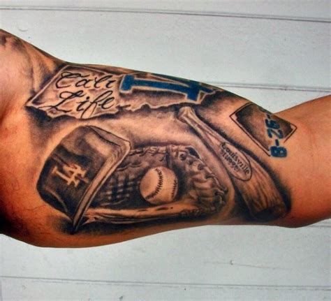 baseball tattoos for men 60 los angeles dodgers tattoos for baseball ink ideas