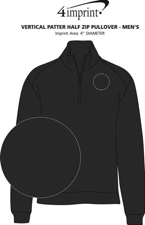 one click pattern unlock zip 4imprint com vertical pattern 1 2 zip pullover men s