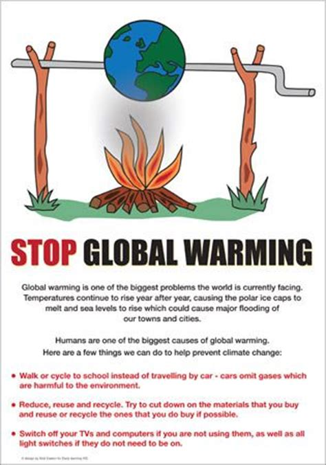 membuat poster global warming global warming poster sustainability school project