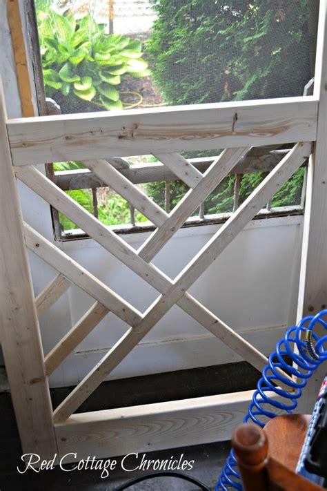 hometalk diy chippendale wood screen door