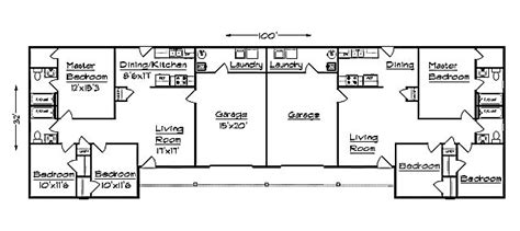 Garage Apartment Floor Plans J1031d G Duplex Plan With Garage