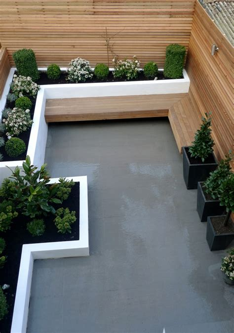 small modern backyard modern garden design london garden blog