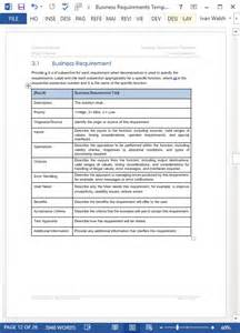 Business Requirement Templates by Business Requirements Specification Template Ms Word
