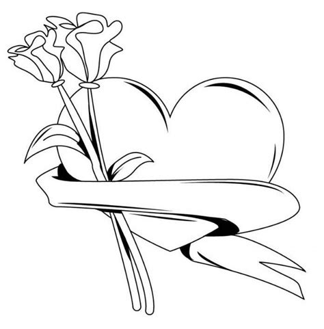 coloring pages of hearts and roses hearts and roses coloring pages coloring home
