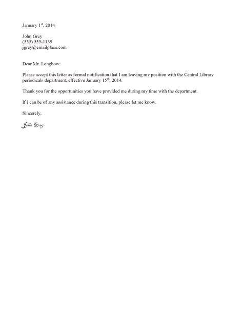 Resignation Letter To Staff Employee Resignation Letter Template