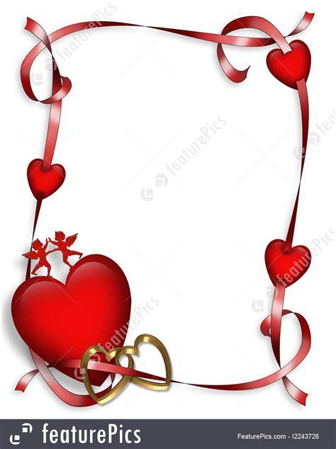 Wedding Border Hearts by Hearts And Ribbons Border Illustration
