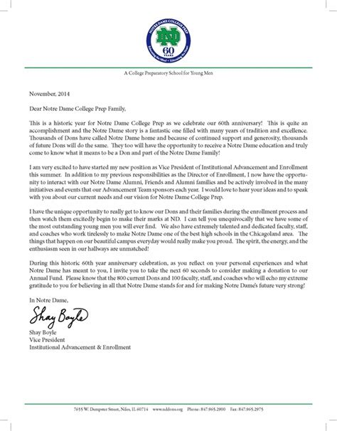 Appeal Fund Letter Format annual fund thank you letter cypress center s project pink annual fund raising event