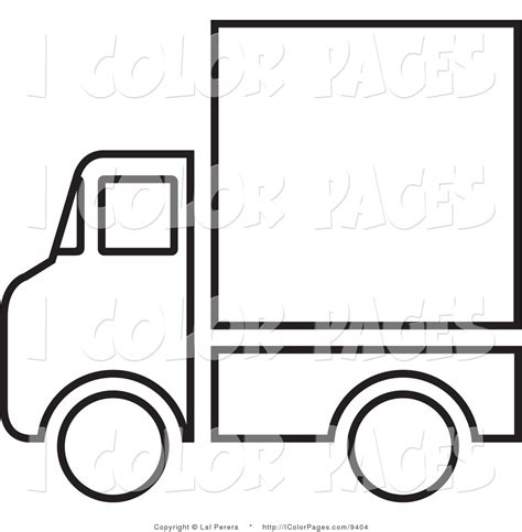 moving van coloring page service truck clip art 12
