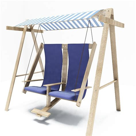 swing 3d chair swing wood 3d max