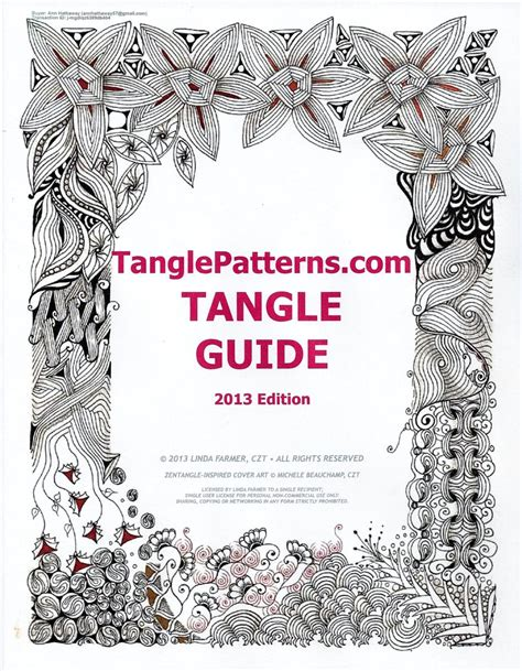 zentangle pattern guide deep magic tangles tangle patterns guide 2013