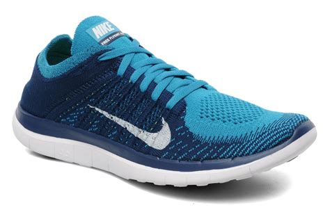 nike knit 4 0 nike nike free 4 0 flyknit sport shoes in blue at sarenza