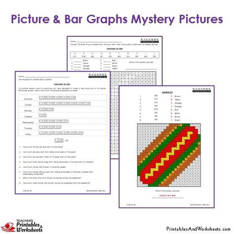 printable bar graphs for third graders 3rd grade picture graph and bar graphs coloring worksheets