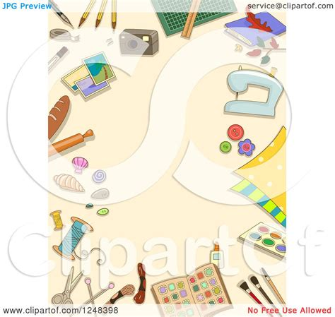 crafts stock images royalty free images vectors clipart of a tan background bordered with arts and crafts